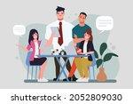 brainstorming teamwork...   Shutterstock .eps vector #2052809030