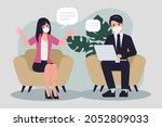 brainstorming teamwork in new...   Shutterstock .eps vector #2052809033