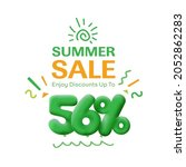 special offer sale 56  discount ... | Shutterstock .eps vector #2052862283