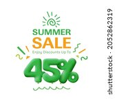 special offer sale 45  discount ... | Shutterstock .eps vector #2052862319