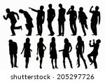 an image of silhouette | Shutterstock . vector #205297726