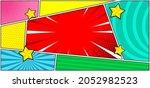 pop art comic layout panel...   Shutterstock .eps vector #2052982523