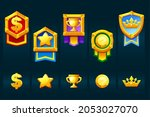 award gold badges with icons...