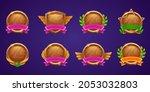 set of game level ui icons ...