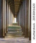 Concrete Columns Pier And Waves ...
