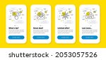 vector set of web mail  buying...