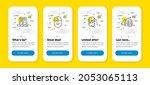 vector set of music app  online ...