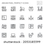 home rooms and interior.... | Shutterstock .eps vector #2053185599