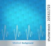 medical background  blue... | Shutterstock .eps vector #205321723