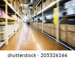 warehouse interior  | Shutterstock . vector #205326166