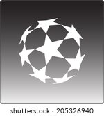 Vector icon. soccer ball. Uefa