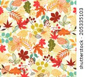 seamless vector pattern with... | Shutterstock .eps vector #205335103