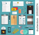 set of flat corporate design... | Shutterstock .eps vector #205335574