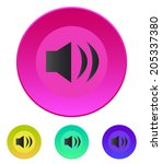 speaker icon. volume max....