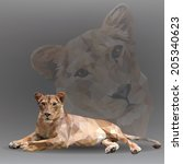 Lioness In Geometrical Style....