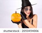 Halloween Girls. Close Up Of A...