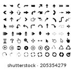 universal outline icons for... | Shutterstock .eps vector #205354279