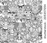vector seamless pattern with... | Shutterstock .eps vector #205357054