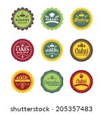 collection of vintage retro... | Shutterstock .eps vector #205357483