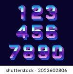 vector retro numbers. set of... | Shutterstock .eps vector #2053602806