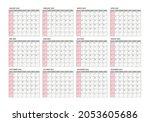 calendar for 2023 year.week... | Shutterstock .eps vector #2053605686
