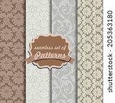 set of vintage patterns ... | Shutterstock . vector #205363180