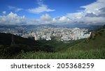 hong kong  with beautiful blue... | Shutterstock . vector #205368259
