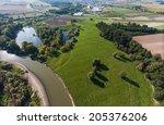 aerial view of village landscape | Shutterstock . vector #205376206