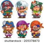 funny cartoon. characters.... | Shutterstock .eps vector #205378873