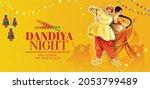 happy navratri illustration of...   Shutterstock .eps vector #2053799489