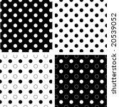 seamless tiles  black and white ...   Shutterstock .eps vector #20539052