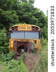 Old Yellow School Bus Abandoned.