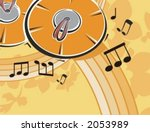 musical background floral style ... | Shutterstock .eps vector #2053989
