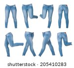 collage of women's jeans... | Shutterstock . vector #205410283