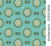 ethnic pattern. | Shutterstock .eps vector #205415836