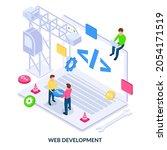 website development concept....
