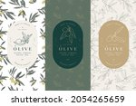 vector set labels with olive...   Shutterstock .eps vector #2054265659