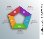 abstract 3d paper infographics. ... | Shutterstock .eps vector #205426753