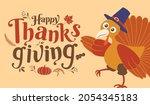 happy thanksgiving day  autumn  ... | Shutterstock .eps vector #2054345183