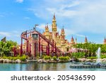 singapore   june 25  tourists... | Shutterstock . vector #205436590