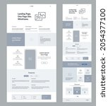 website template vector. page...