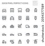 public transportation. van ... | Shutterstock .eps vector #2054377589
