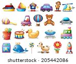 illustration of the set of... | Shutterstock .eps vector #205442086