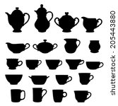 Set Of Cups And Teapots...