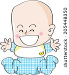 a smiling baby | Shutterstock . vector #205448350