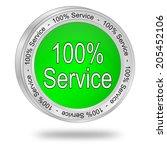 100  service button   Shutterstock . vector #205452106