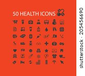 50 health care  medical ... | Shutterstock .eps vector #205456690