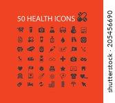 50 health care  medical ...   Shutterstock .eps vector #205456690