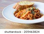 Spaghetti Bolognese With Garli...