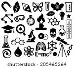 vector black characters on a... | Shutterstock .eps vector #205465264